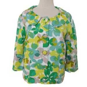 "Josephine ""Go Green"" Cotton Print Jacket NWT- 14P"
